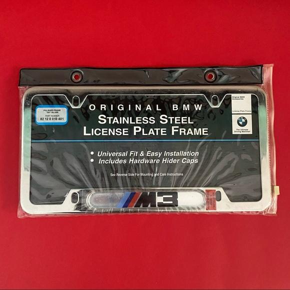 BMW M3 License Plate Frame, NWT